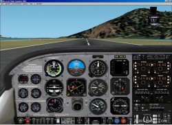 FS2002 picturerealistic panel Cessna T206 image 3