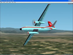 FS2002 Aircraft - Fokker F27 Friendhip Fire image 1