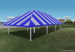 Fs2004/2002 Large Tent choice Blue image 1