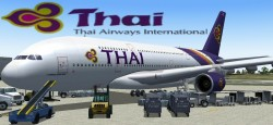 FS2004/FSX Thai Airways A380-800 Thai Airways image 1