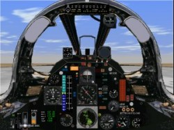 Flightsim FS2004/FS98 F105D Thunderchief panel image 1