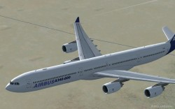 FSX Airbus A340-600 Model with diffuse bump image 3