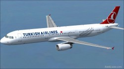 FS2004/FSX Turkish Airlines Airbus A321-231 image 2
