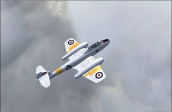 Fs2004 gloster meteor t7 wa669 repainted textures image 1