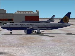 FS2002 World Travel 777-300 with image 1
