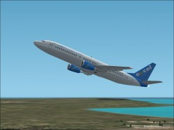 Fs2002 Excel Airways Boeing 737-4q8 image 1