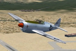 FS2004/FSX Republic P47J experimental fighter: image 1