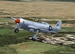 FS2004/FSX Republic P47J experimental fighter: image 2