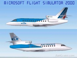 Fs2000 Dassault Falcon 900ex Klm/air France image 1