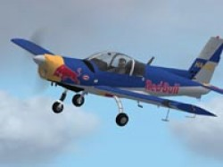 FS2002 Zlin Z-142 Red Bull Fictitious Livery image 1