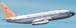 South african airways 737-200. image 1